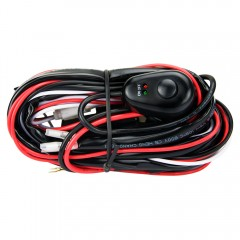 Led Hid High Beam Wiring Loom Harness Driving Light Bar 12v 40a Relay Switch Kit