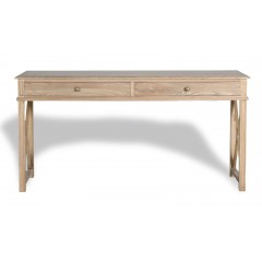 French Provincial Console Table - Natural