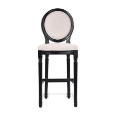 Louis Bar Stool French Provincial White Black Washed Oak