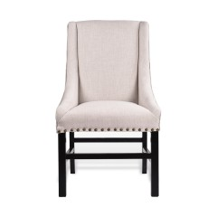 Madison Dining Chair Upholstered Brass Studding