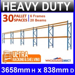 Pallet Racking 5 Bay System 3658mm High 40 Pallet Spaces