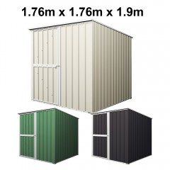 Garden Shed 1.76m x 1.76m x 1.9m Budget Tools Storage