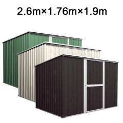 Garden Shed 2.6m x 1.76m x 1.9m Budget Tools Storage