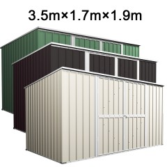 Garden Shed 3.5m x 1.7m x 1.9m Flat Roof
