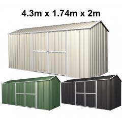 Garden Shed 4.3m x 1.74m x 2m (New Model)