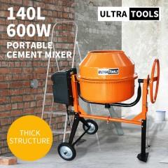 Cement Concrete Mixer 140L Sand Gravel Portable 600W Motor Size