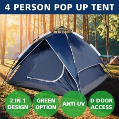 Outdoor Camping Tent Pop Up 4 Person Pop Up Sun Shelter