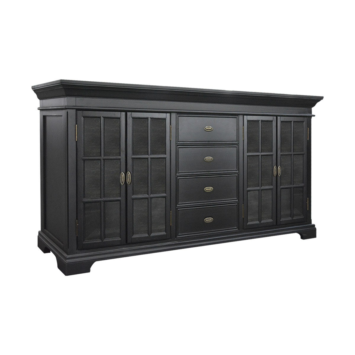 Kitchen Cabinet Doors And Drawers: Hamptons Halifax Large Kitchen Cabinet With Glass Door And