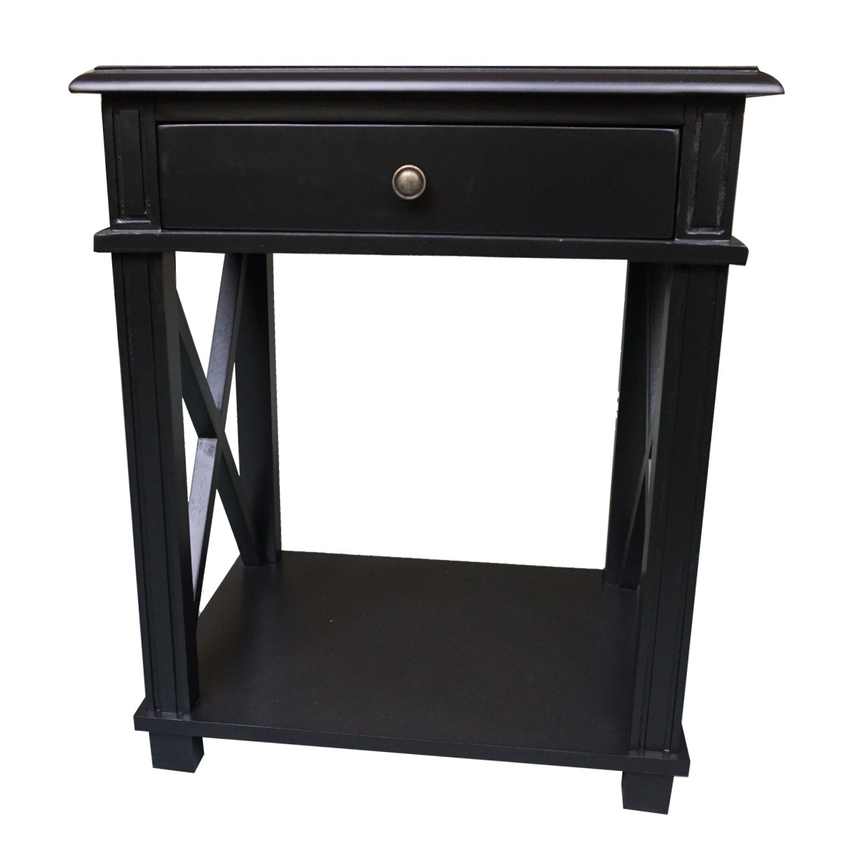Hamptons Halifax One Drawer Bedside Lamp Table Nightstand