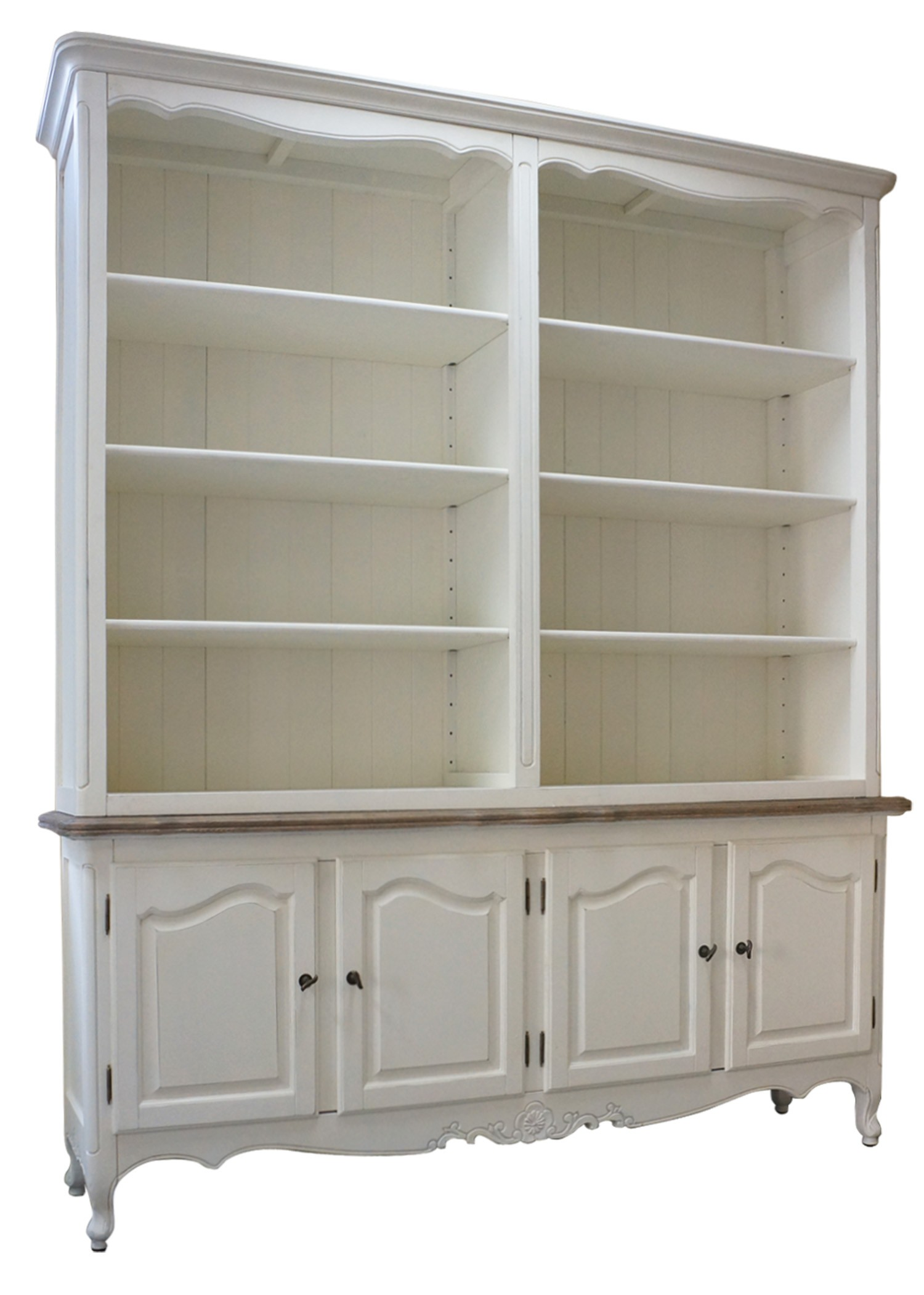 French Provincial Buffet And Open Hutch Sideboard Dresser
