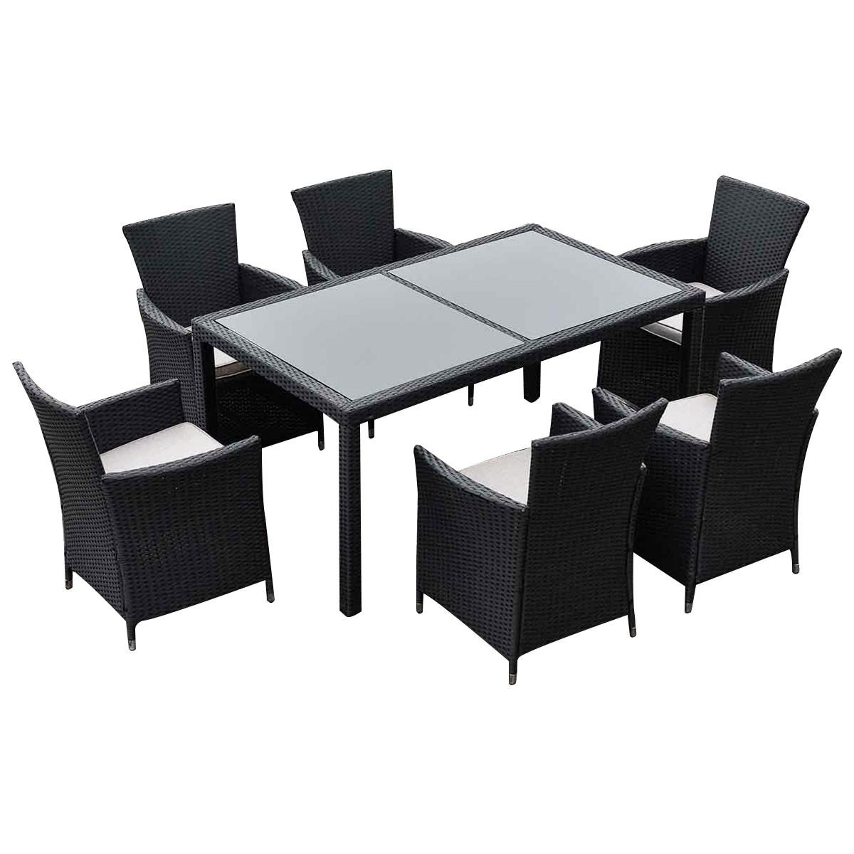 Malibu  Seater Patio Furniture Set Black