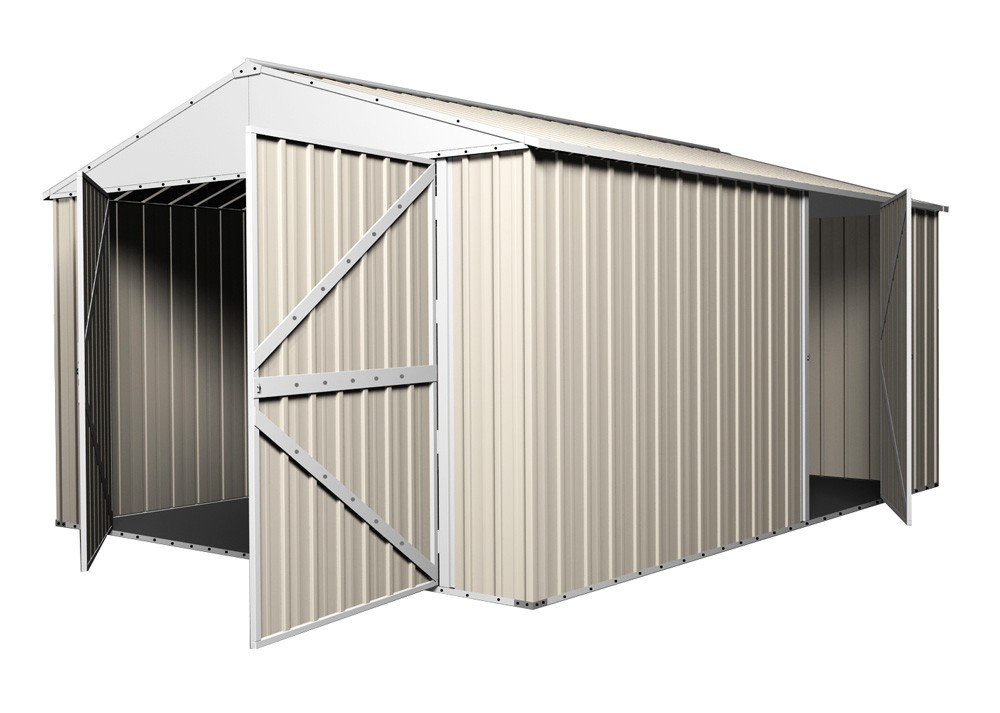 Garage Shed Workshop X X With Double Barn