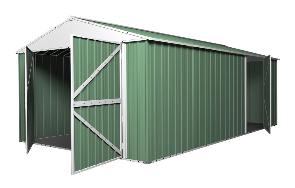 Double Barn Door Garage Shed 35m X 6m X 23m Gable Workshop With