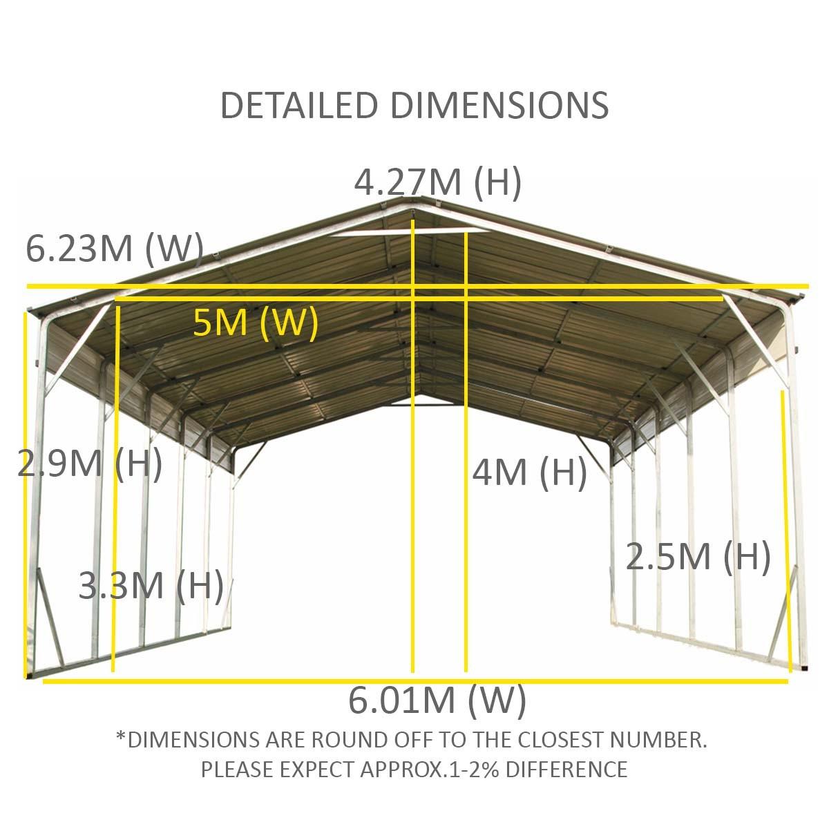 carport x x vehicle shelter wholesales direct. Black Bedroom Furniture Sets. Home Design Ideas