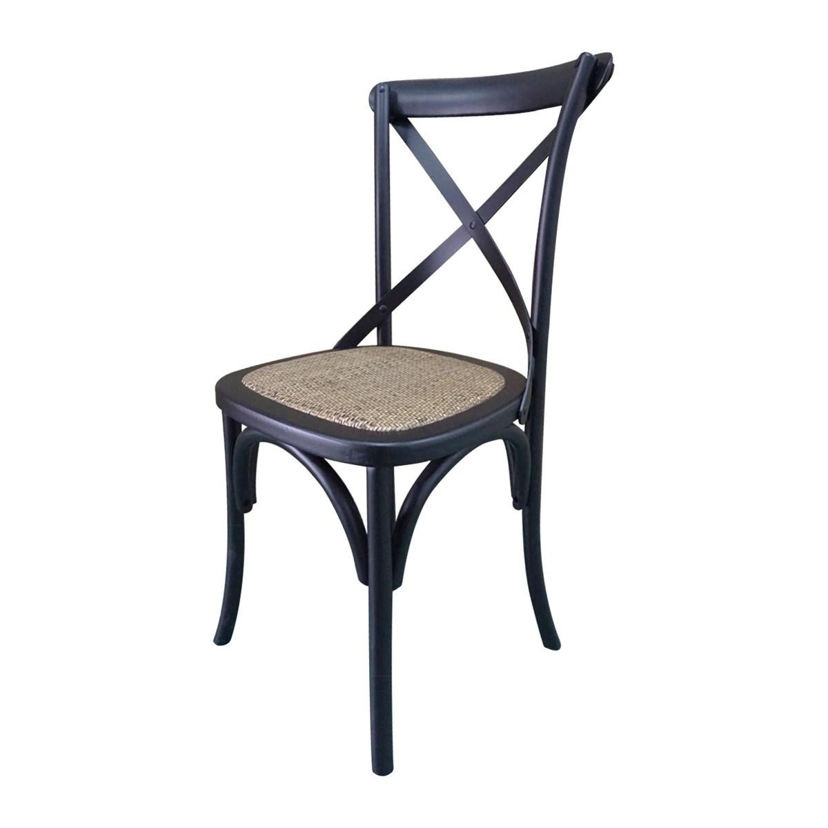 set of 2 hamptons cross back dining chair birch american oak rattan seat wholesales direct. Black Bedroom Furniture Sets. Home Design Ideas