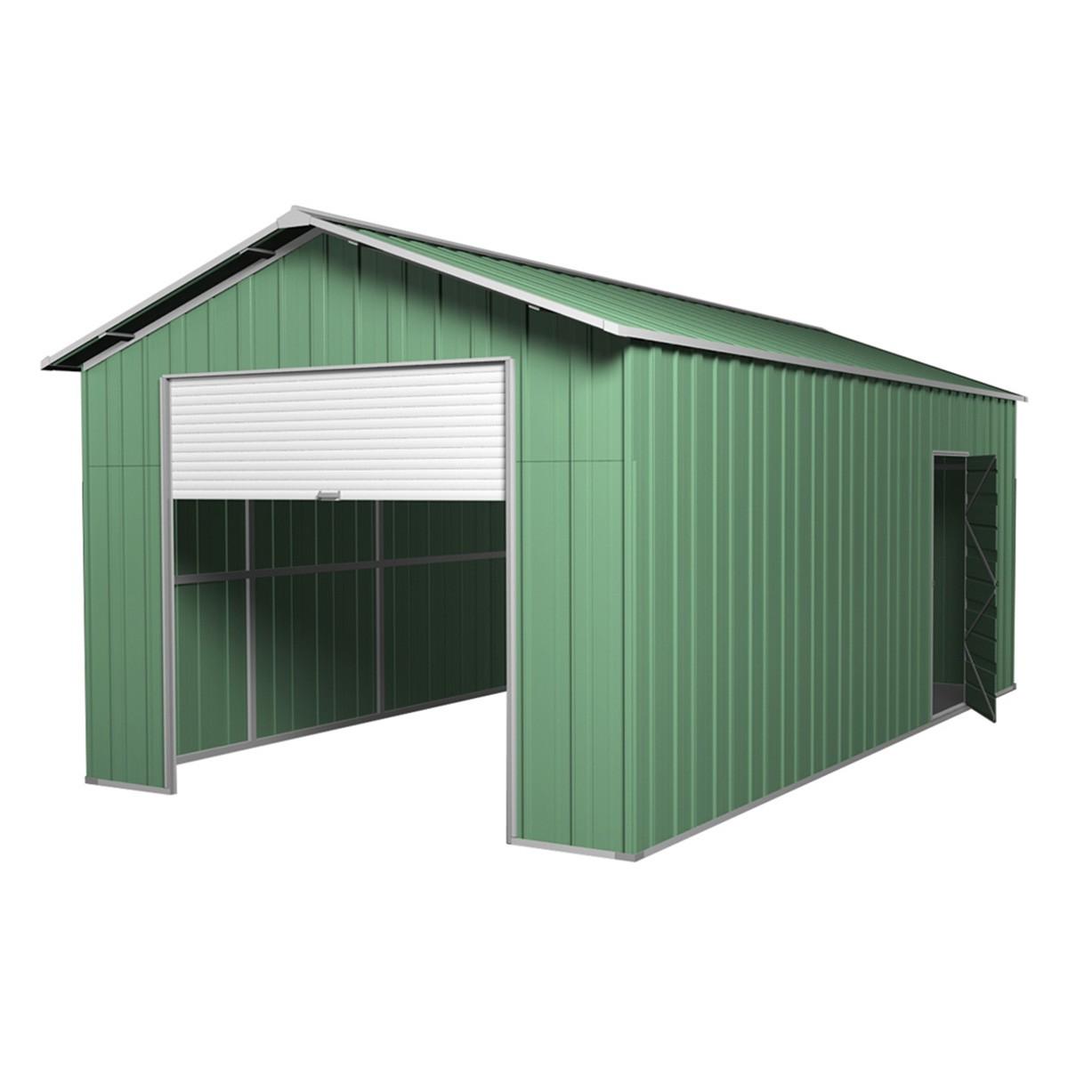 Roller door garage shed x 6m x 3m gable workshop for Garage gable