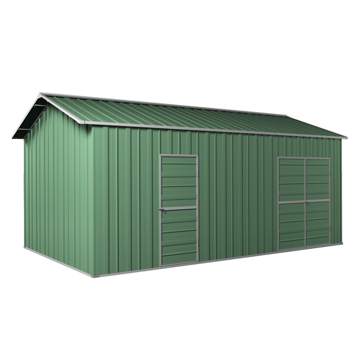Garage workshop shed m side double doors pa