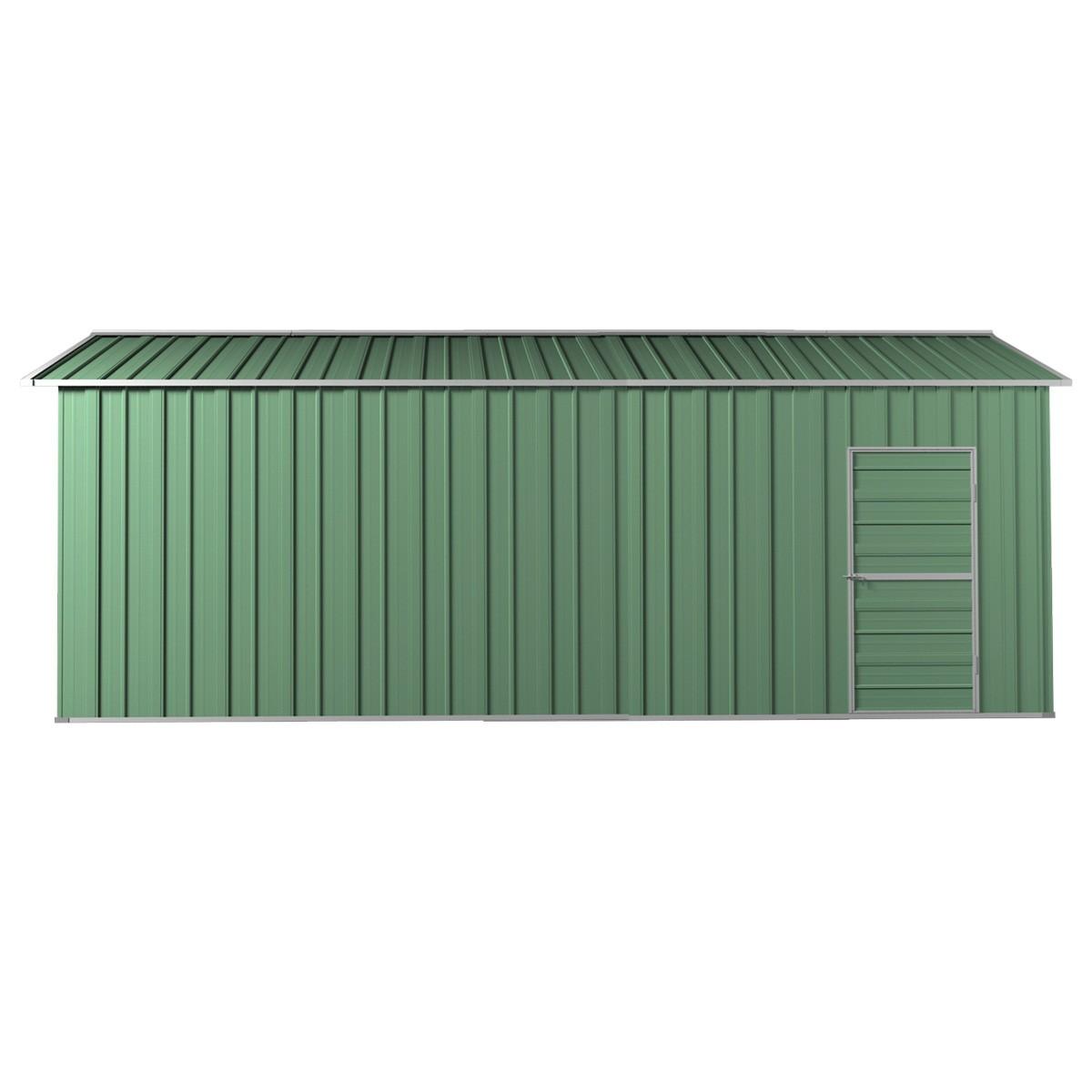 Roller door garage shed x x 3m gable workshop for Shed with garage door