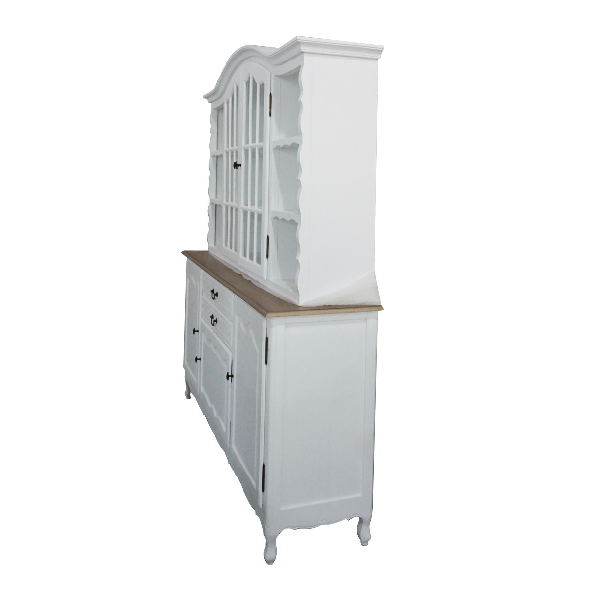 French Kitchen Dresser: French Provincial Glass Display Buffet And Hutch Kitchen