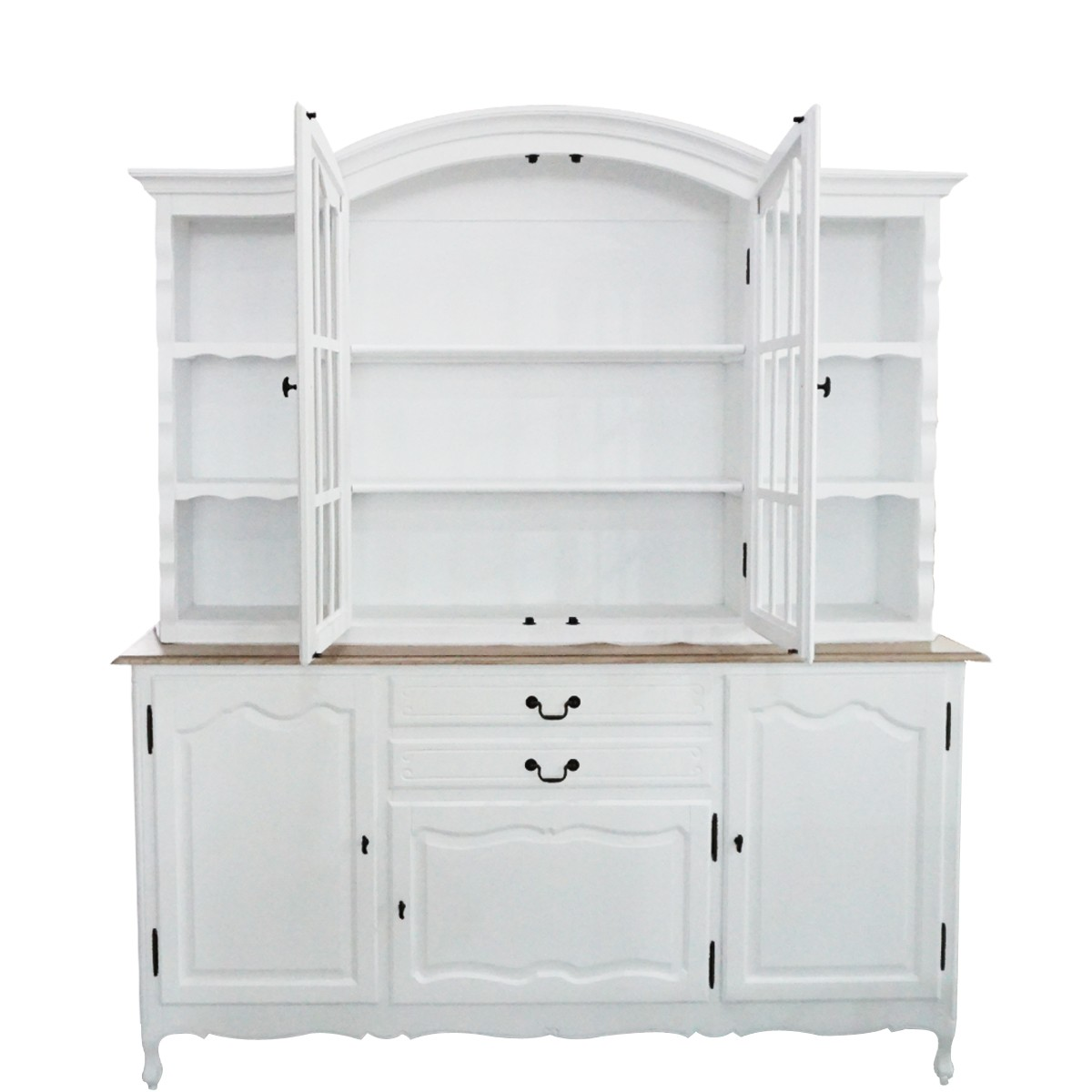 French Provincial Kitchen Cabinets: French Provincial Glass Display Buffet And Hutch Kitchen