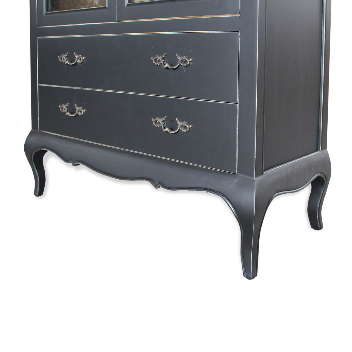 Genial ... French Provincial Furniture Display Cabinet In Black ...