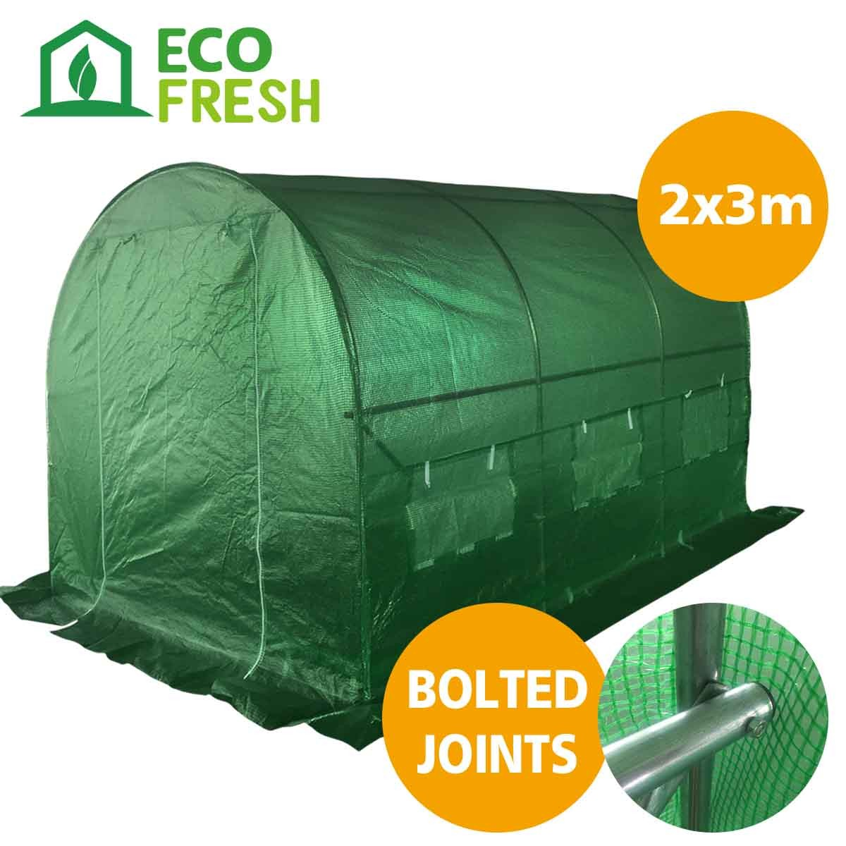 Ecofresh walk in greenhouse 3m x 2m x 2m wholesales direct for Cuisine 3m x 2m