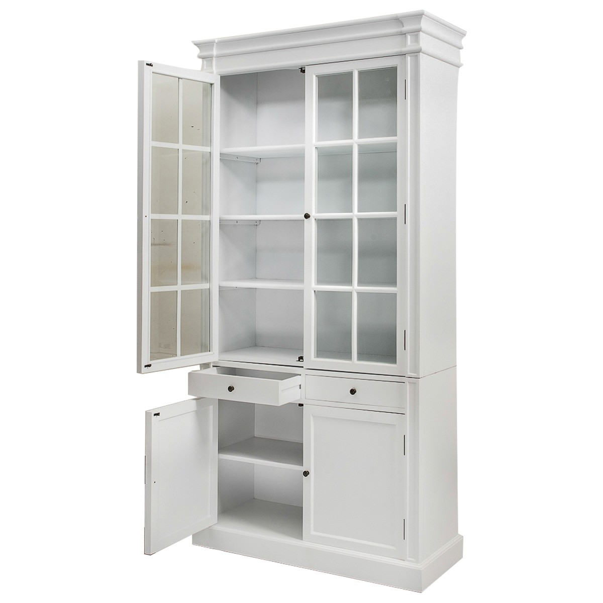 French Glass Kitchen Cabinet Doors: French Provincial Hamptons 2 Glass Door Display Cabinet