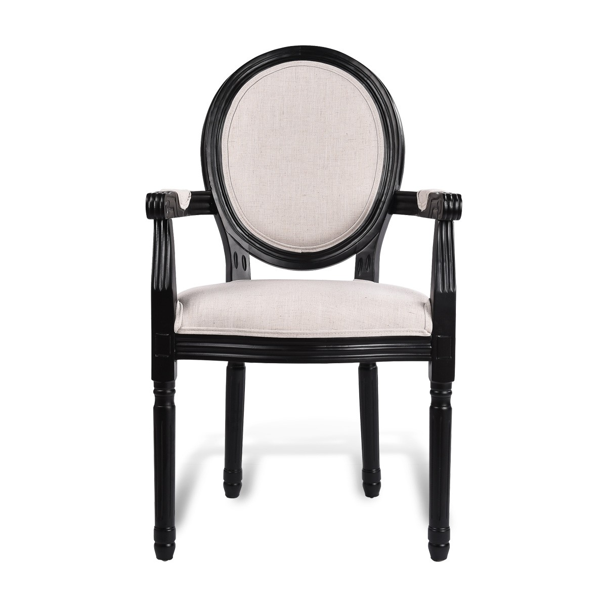 Charmant Louis Dining Armchair Set Of 2 French Provincial Upholstered Carver Chair  White Black Or Washed Oak ...