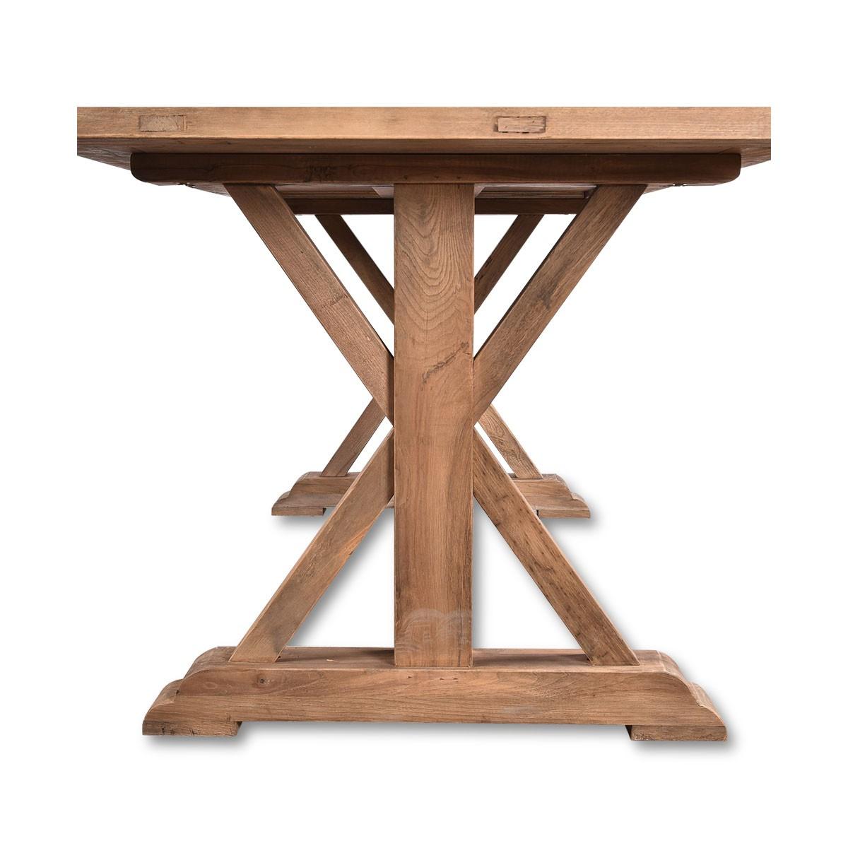 lemans rustic dining table 200cm reclaimed elm wood farmhouse wholesales direct