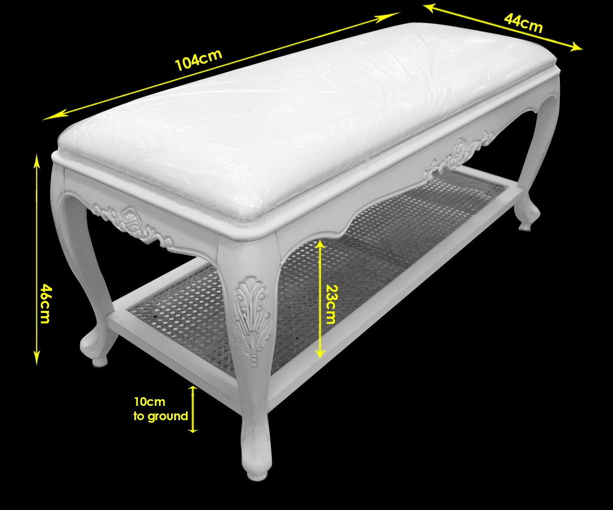 French Provincial Classic White Bed End Stool Wholesales