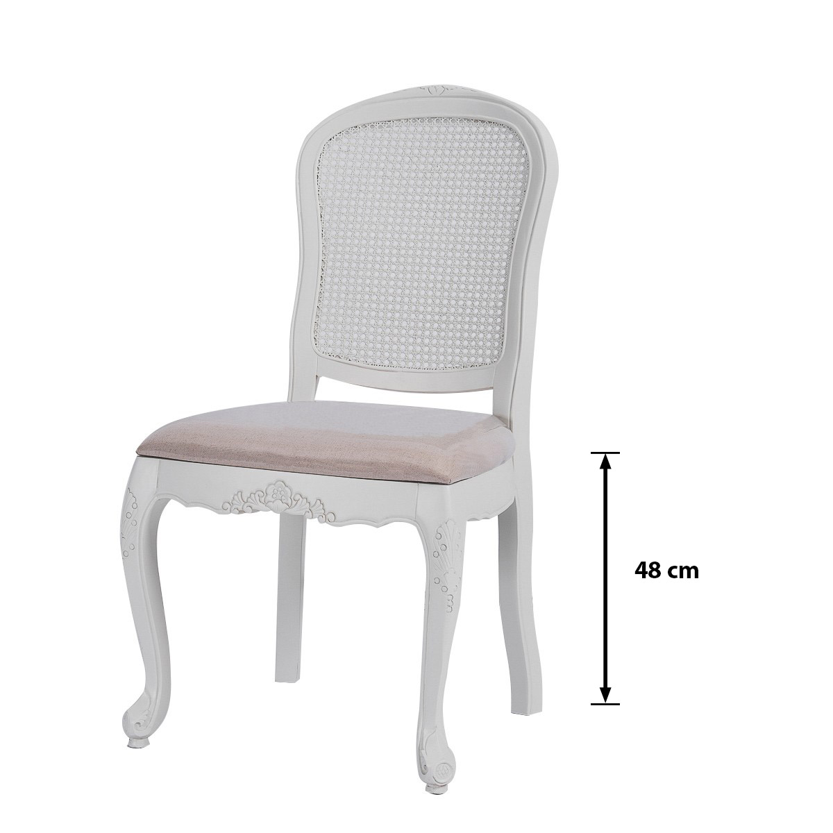 French Provincial Furniture Dining Chair White Distress