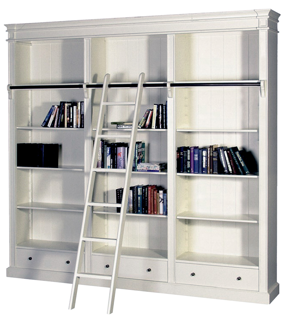 Details About French Provincial Bookcase Bookshelf Bookshelves Oak Bookcase With Ladder