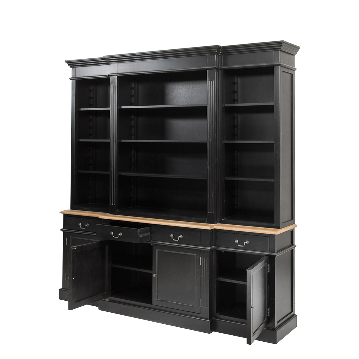 French Provincial Furniture Bookcase Cabinet Black Ebay