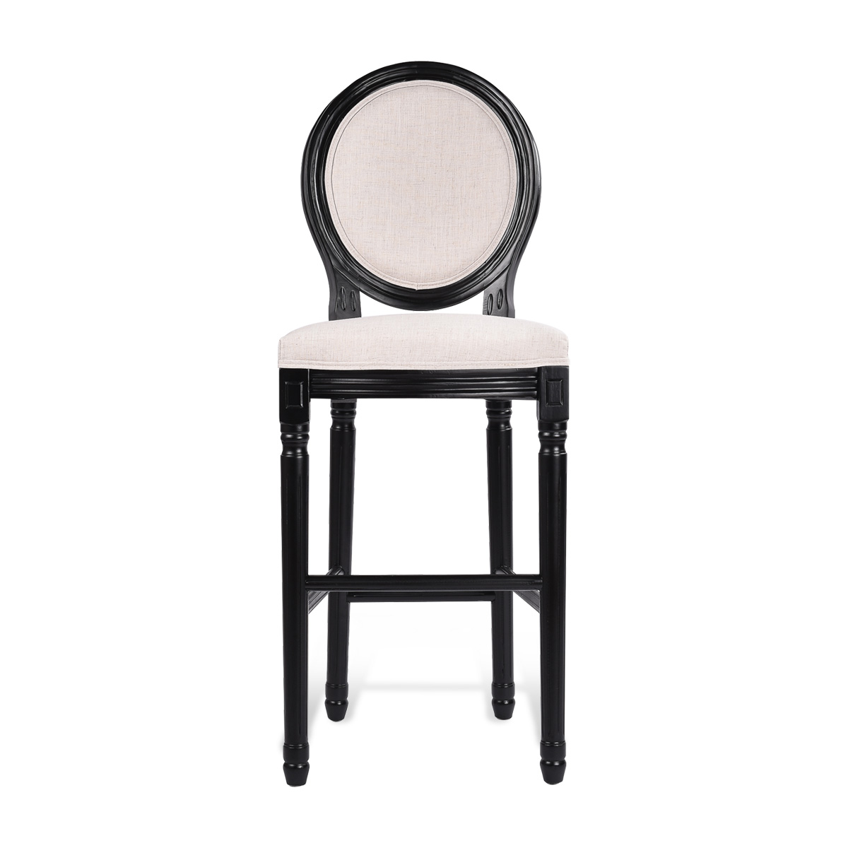 French Provincial Louis Xv Style Upholstered Bar Stool Kitchen Chair