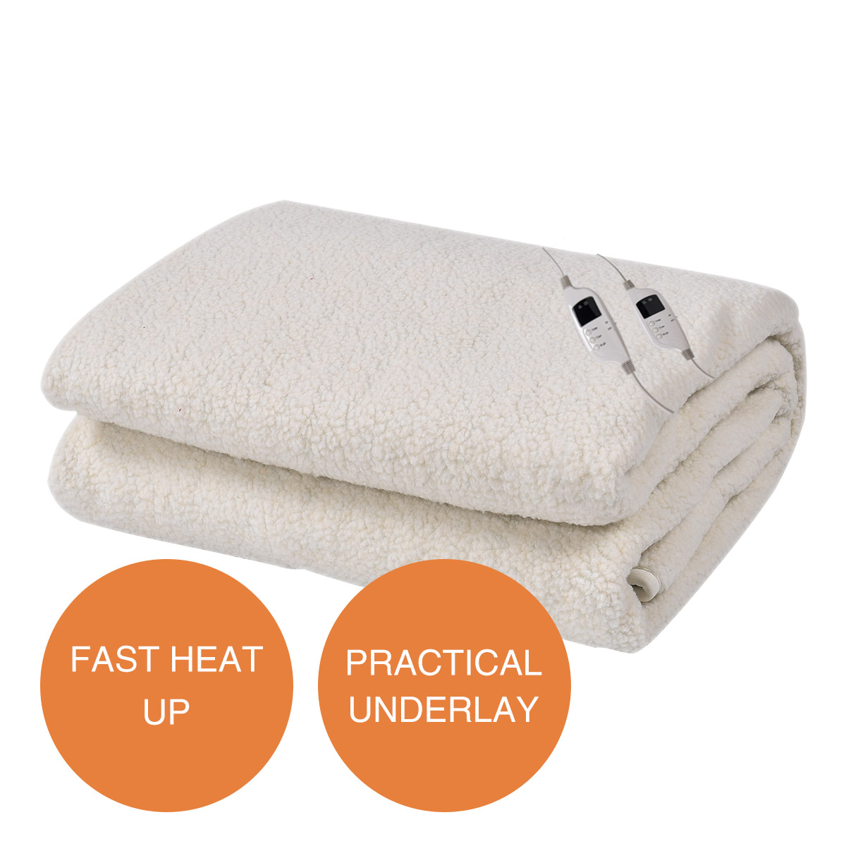 Electric Blanket Heated Underlay Fleecy Fully Fitted Queen -...