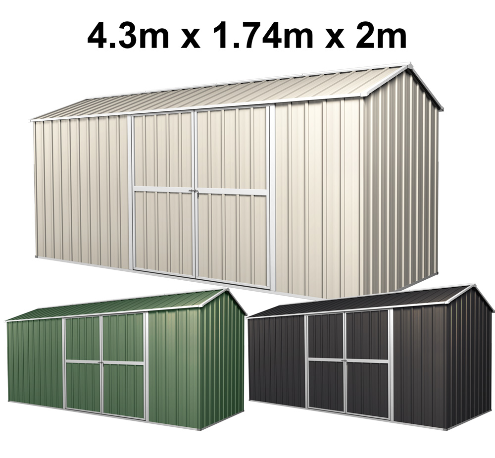 Garden Shed From 2m Tools Storage Gable Roof Steel Garage