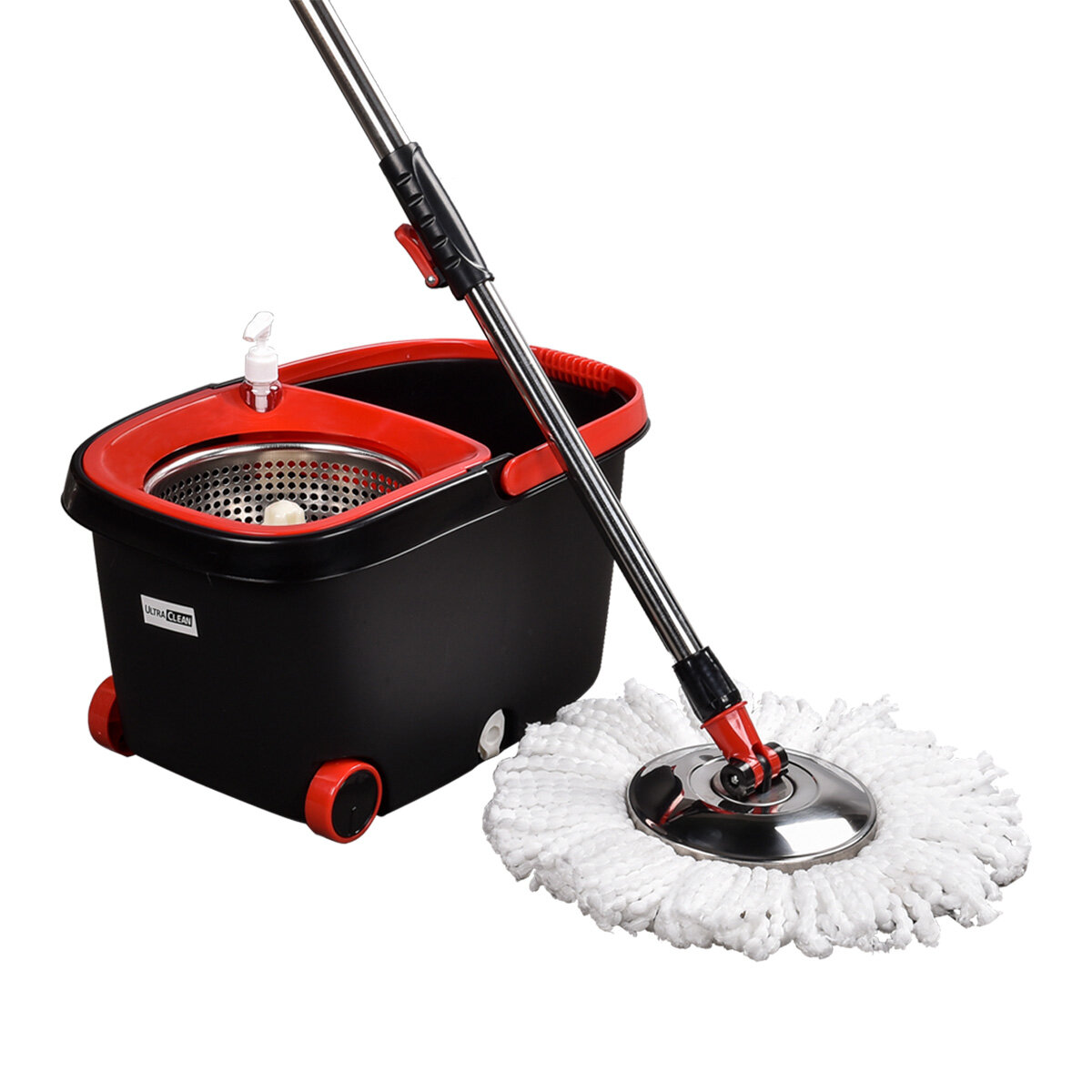 Ultra Clean Spin Mop 360 Degree and Bucket Set 4X Microfibre Mop Head