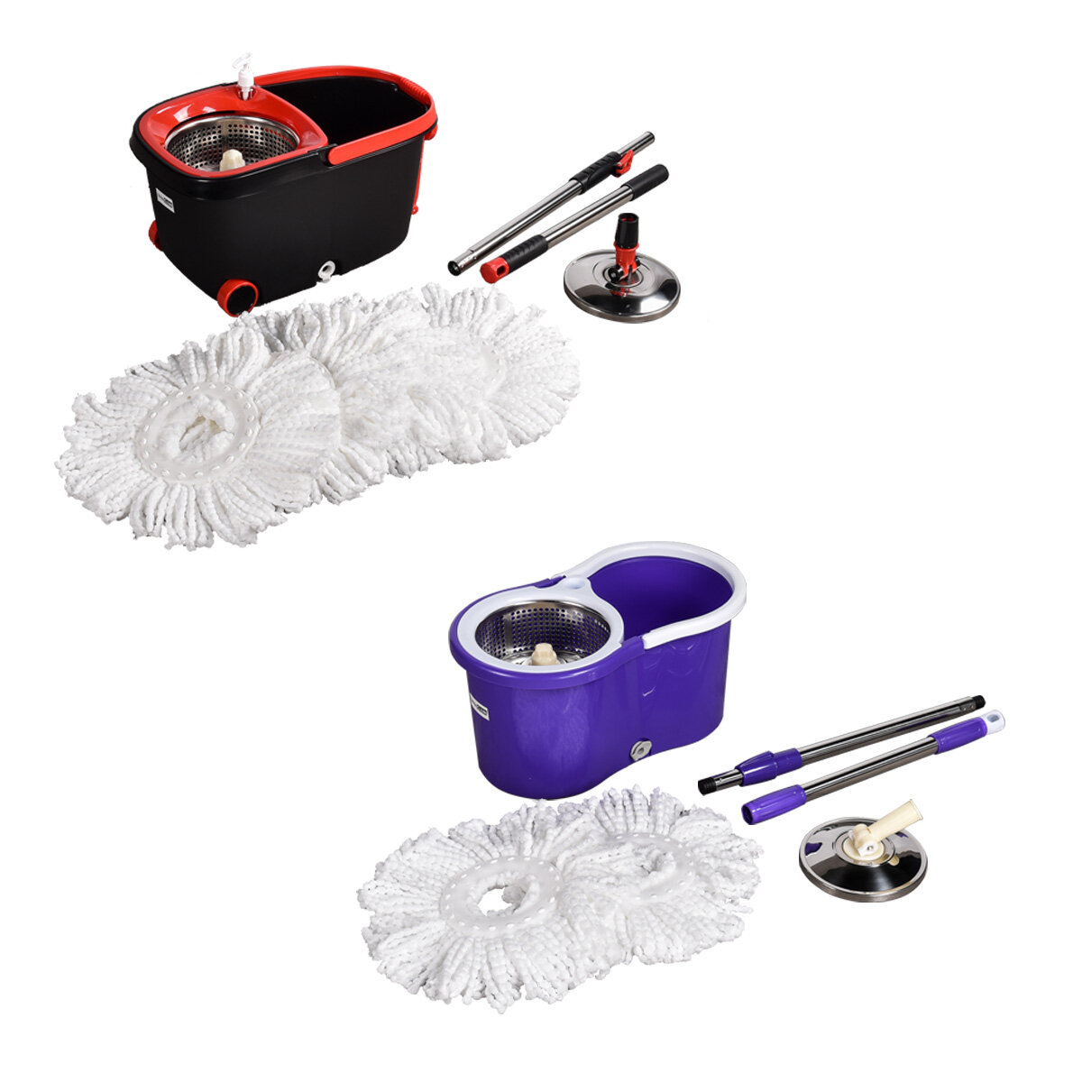 Ultra Clean Spin Mop 360 Degree and Bucket Set 2X OR 4X Microfibre...